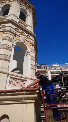 Aλεξικέραυνο Franklin στη Μητρόπολη Θεσσαλονίκης Αγίου Γρηγορίου Παλαμά.